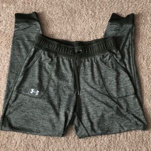 Under Armour women's small heather green joggers